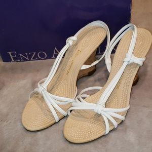 "NIB Enzo Anglioni White Leather ""Jingo"" 7.5"